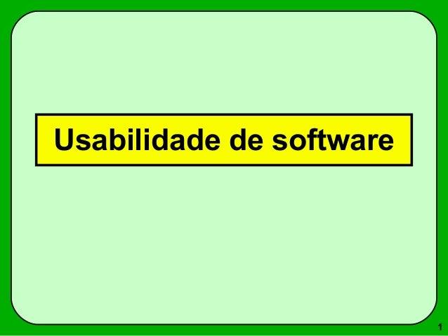 1  Usabilidade de software
