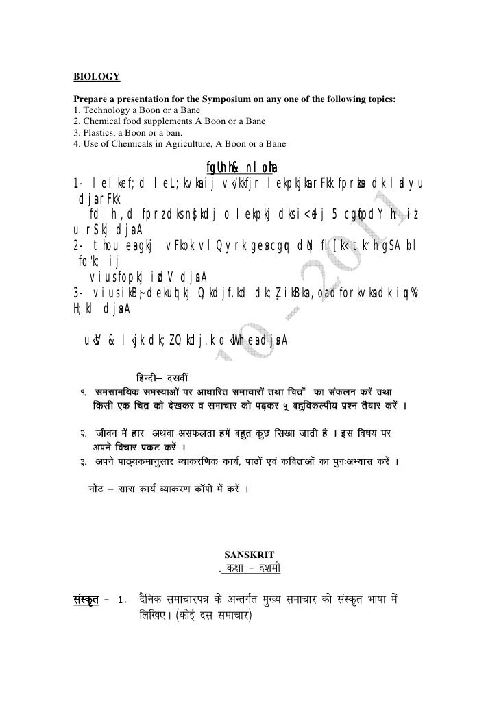 dps indirapuram holiday homework class 10