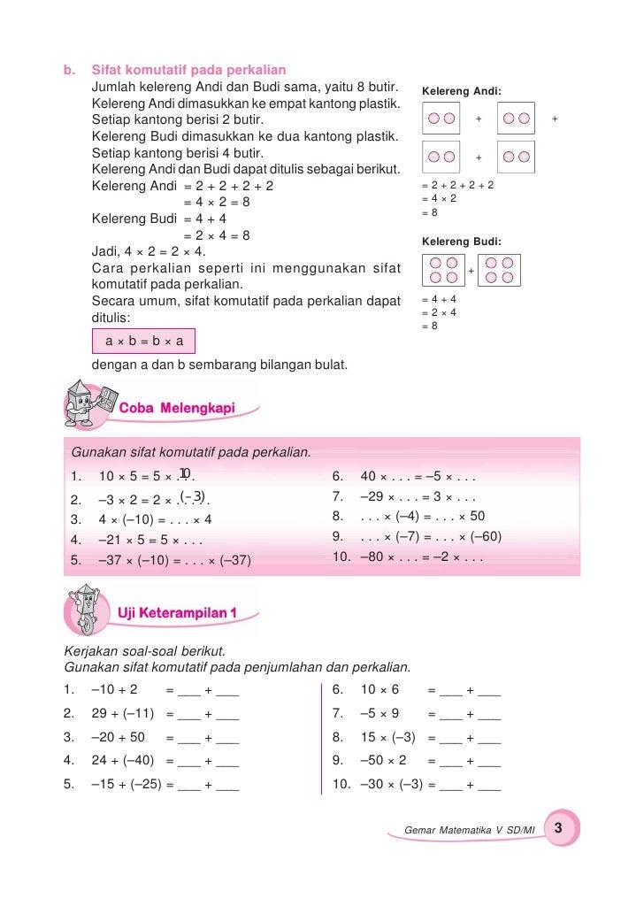 Kunci Jawaban Gemar Matematika Kelas 6 Mata Pelajaran