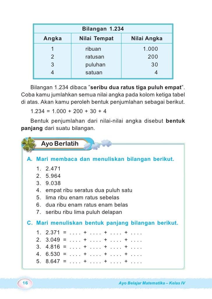 Kunci Jawaban Buku Mari Belajar Matematika Kelas 4 ...