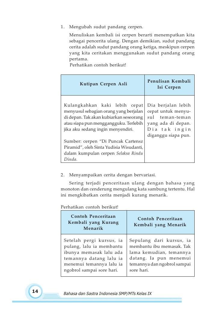 Smp Mts Kelas09 Bahasa Dan Sastra Indonesia 3 Maryati Sutopo