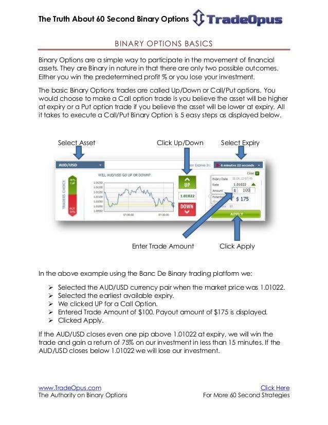 Binary option m5 charts autotrader
