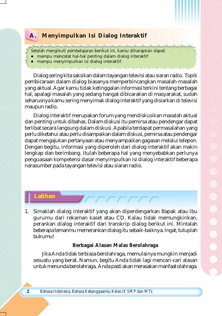 Smp Mts Kelas09 Bahasa Indonesia Bahasa Kebanggaanku Sarwiji