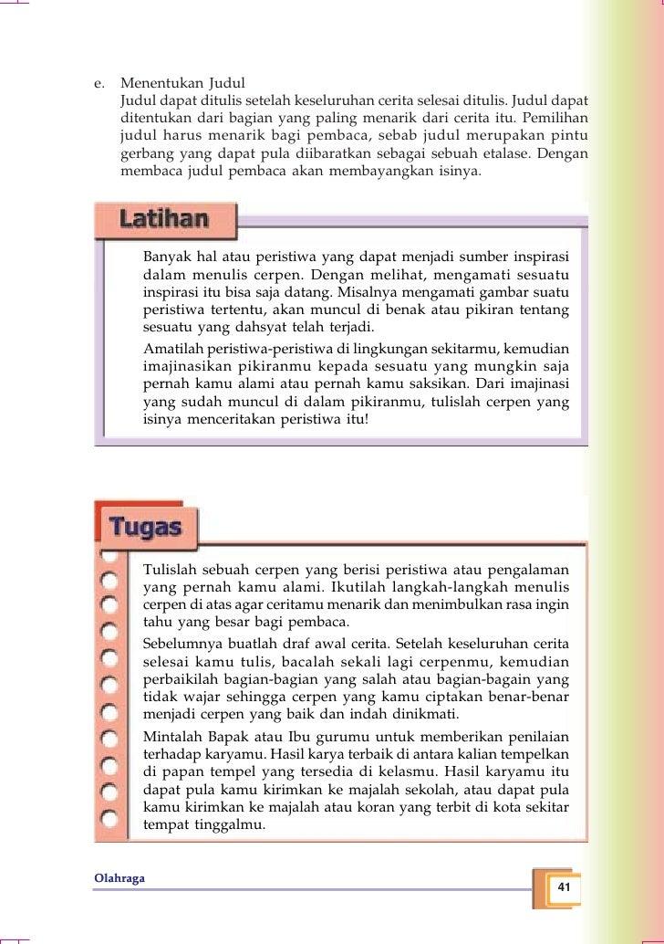 Contoh Cerpen Untuk Smp Kelas 9 Contoh 317