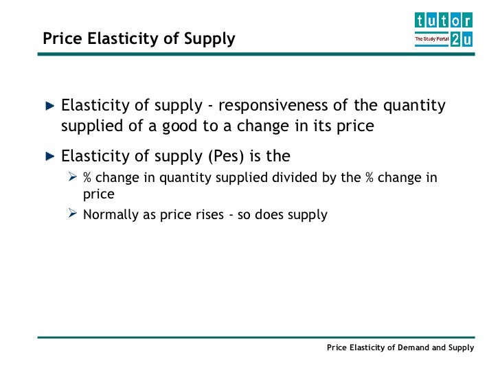 the factor of the substitution possibilities and the elasticity of supply What is that mean because factor of time so the supply will be increase if has long time to produce and what the example.