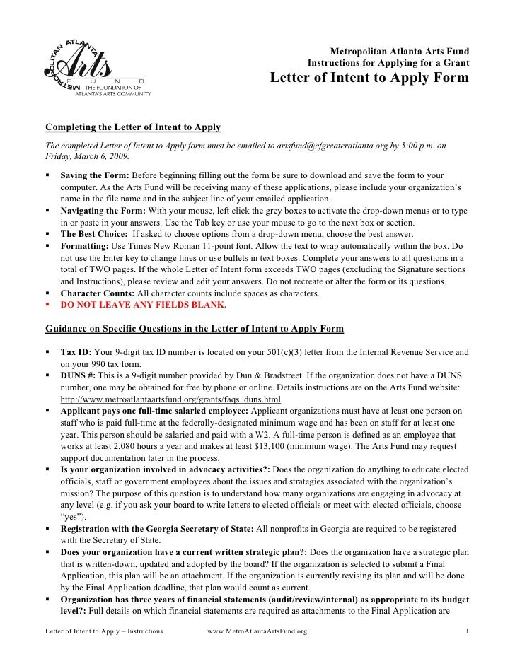Metropolitan Atlanta Arts Fund                                                                              Instructions f...