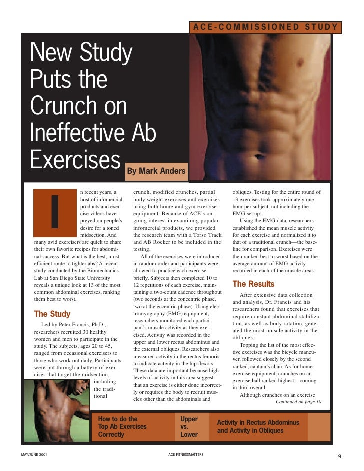 ACE-COMMISSIONED STUDY       New Study     Puts the     Crunch on     Ineffective Ab     Exercises                        ...