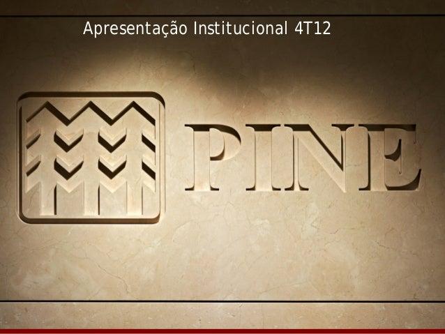 Relações com Investidores   4T12   1/32  Apresentação Institucional 4T12