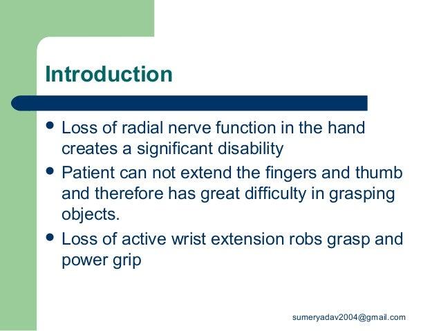 radial nerve palsy  Slide 2