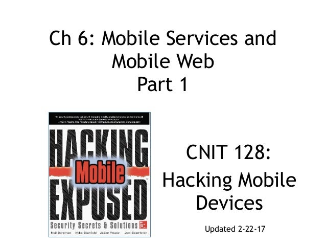 Ch 6: Mobile Services and 