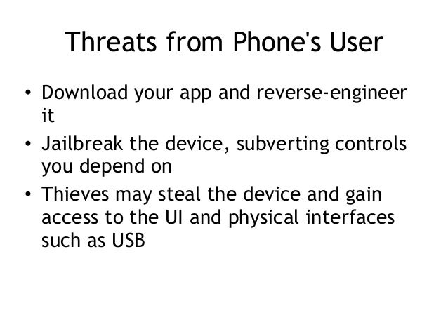 CNIT 128 8: Mobile development security