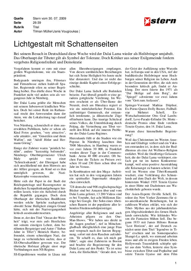 Quelle Seite Rubrik Autor  Stern vom 30. 07. 2009 26-39 Titel Tilman MüllerJanis Vougioukas |  Lichtgestalt mit Schattense...