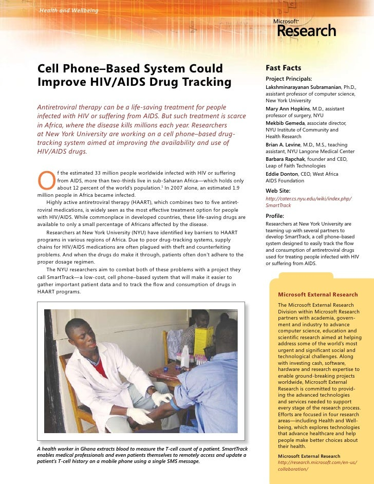 Health and Wellbeing     Cell Phone–Based System Could                                                                  Fa...