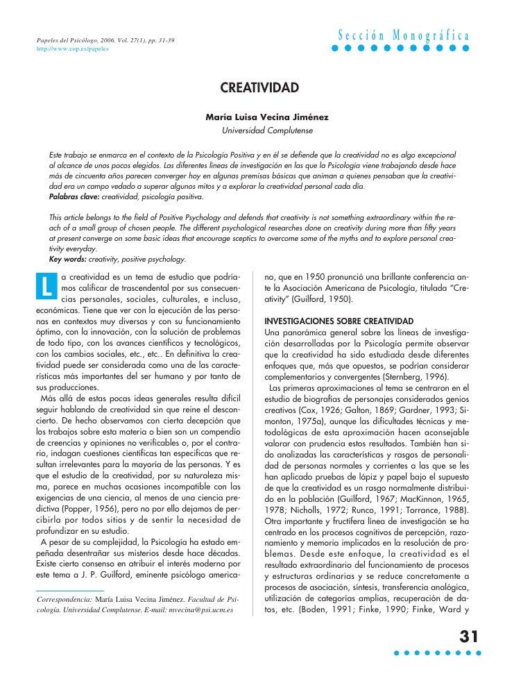 Papeles del Psicólogo, 2006. Vol. 27(1), pp. 31-39                                              Sección Monográficahttp://...