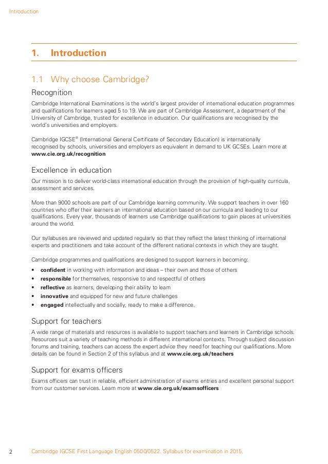 Igcse english language coursework assignment 1