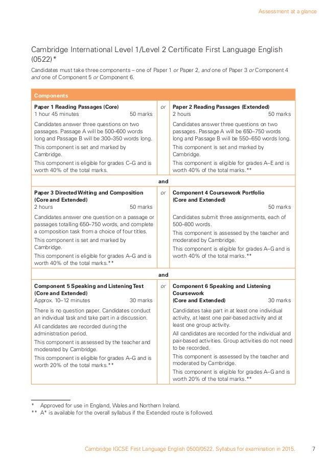 igcse 0522 coursework boundaries