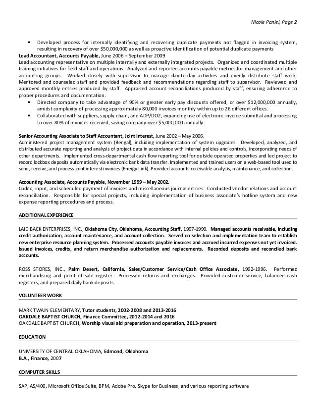 Awesome Oklahoma Accounting Resume Images - Best Resume Examples and ...
