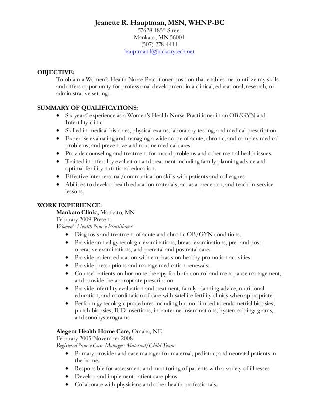 sample nurse practitioner resume objective