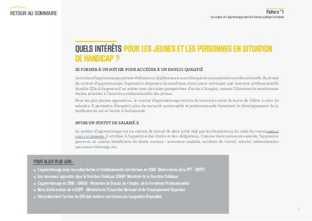 828e822fa9b RETOUR AU SOMMAIRE  6. - 6 - Fiche n°1 Les enjeux de l apprentissage dans la  Fonction publique ...