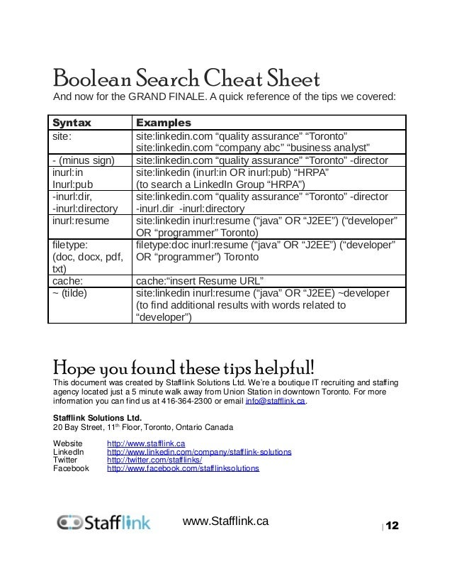 boolean search and resume
