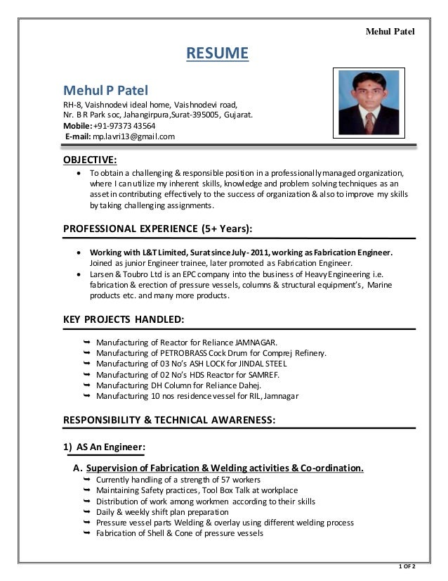 Mehul patel resume how to write a resume for special education teacher