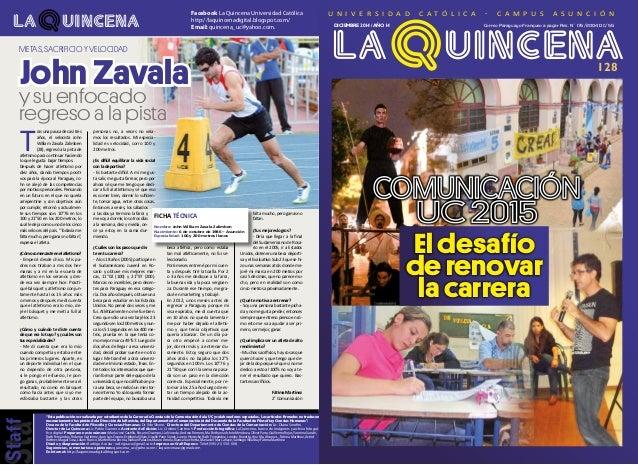 """Facebook La Quincena Universidad Católica http://laquincenadigital.blogspot.com/ Email: quincena_uc@yahoo.com. 16 """"Esta pu..."""