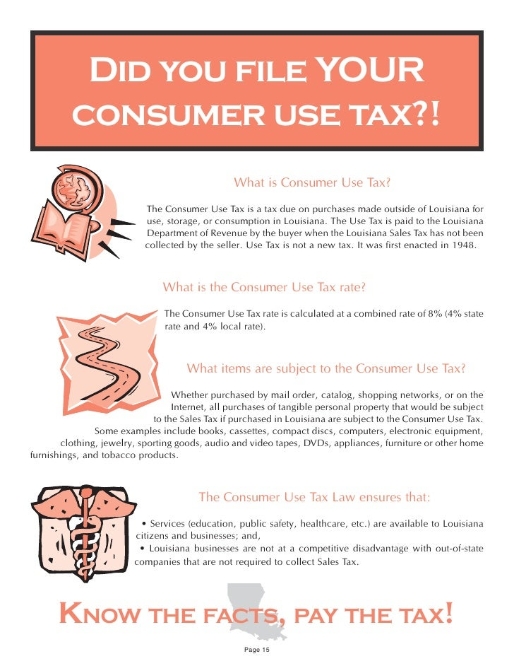 Consumer Use Tax Form