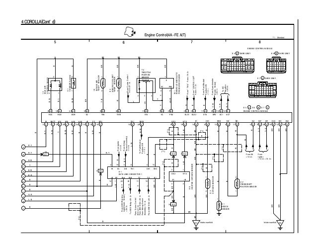 toyota wiring diagrams ecu pinout
