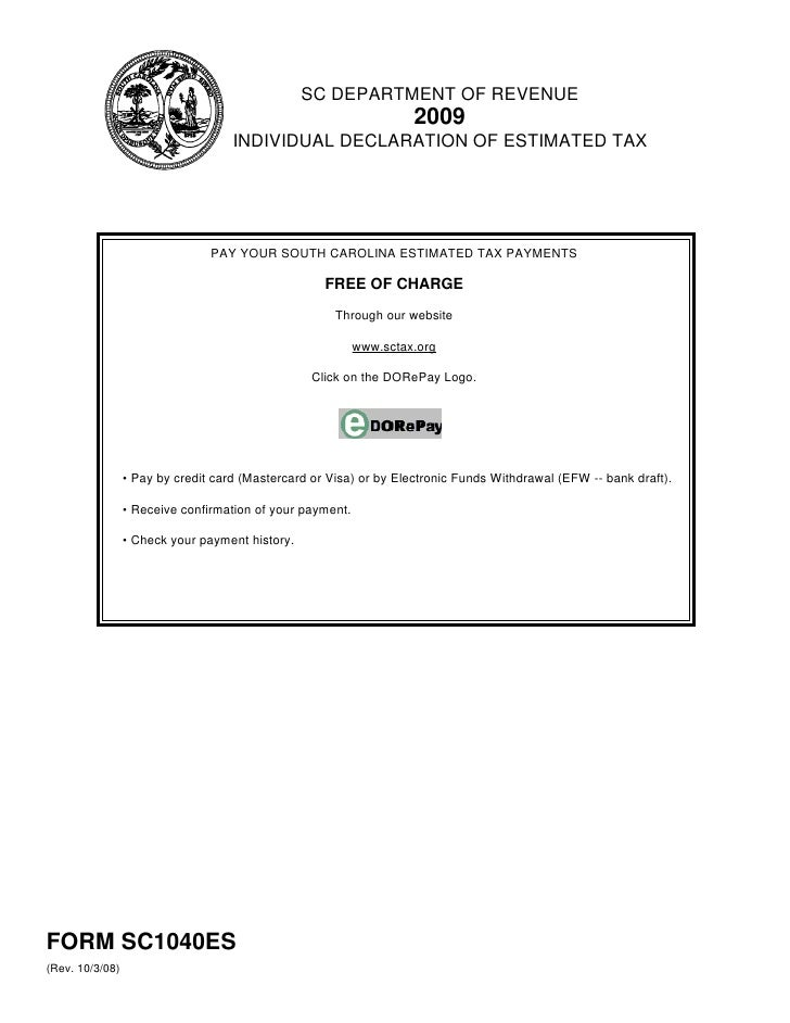 Individual Declaration of Estimated Tax with Instructions and Workshe…