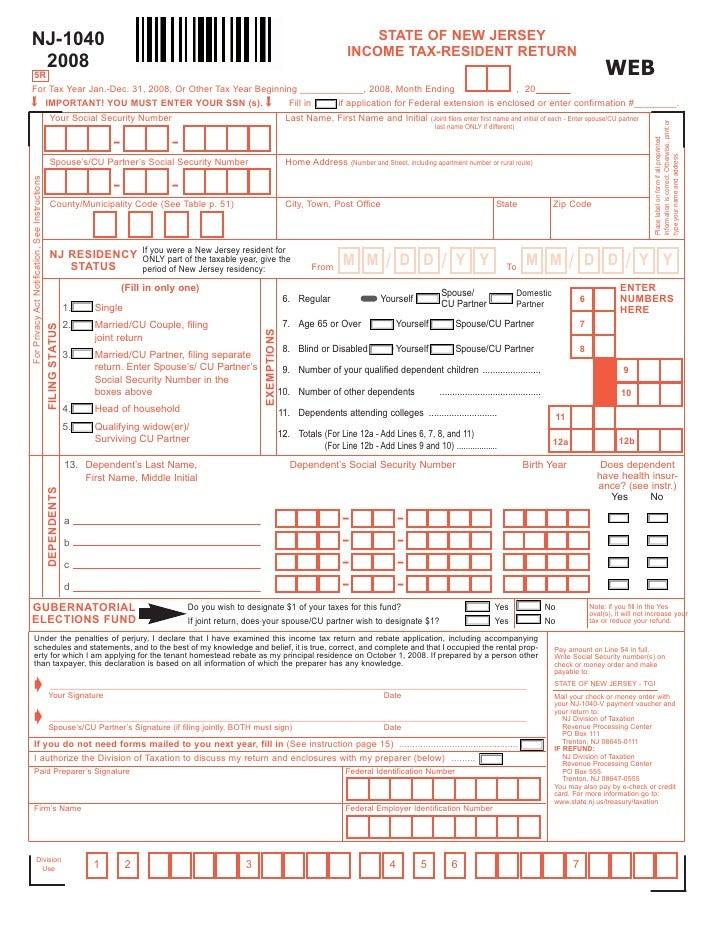 Nj State Tax Form 1040 Dolapgnetband