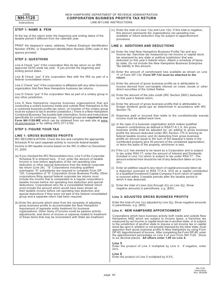 Corporate business profits tax return and instructions 092008 page 61 2 sciox Choice Image