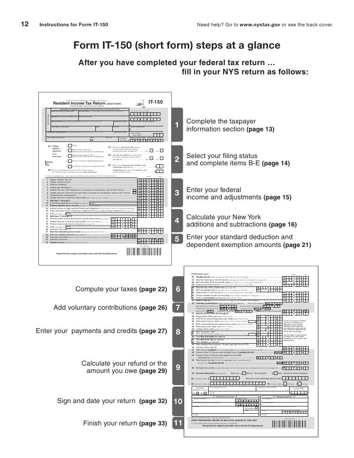 It Resident Income Tax Return Long Form And Instructions Inclu