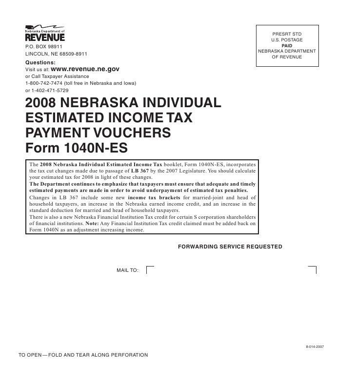 Revenue Tax Current F1040nes2008