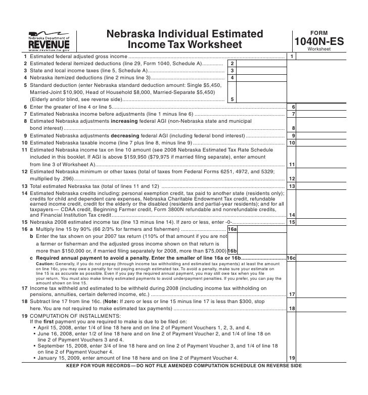Federal Itemized Deduction Worksheet - Delibertad
