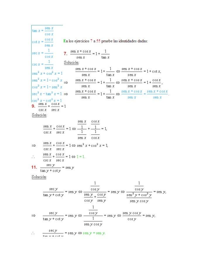 ejercicios resueltos de identidades trigonometricas para bachillerato pdf