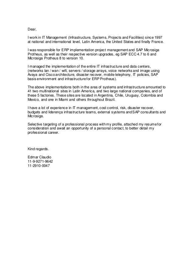 Edmar Claudio Cover Letter