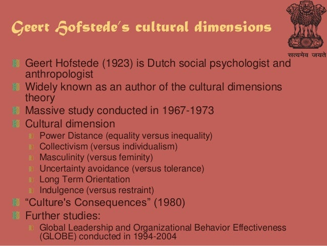cultural dimensions in indian workforce Understanding cultures & people with hofstede dimensions the theory of hofstede's cultural dimensions constitutes a framework revolving around cross-cultural communication, which was devised.