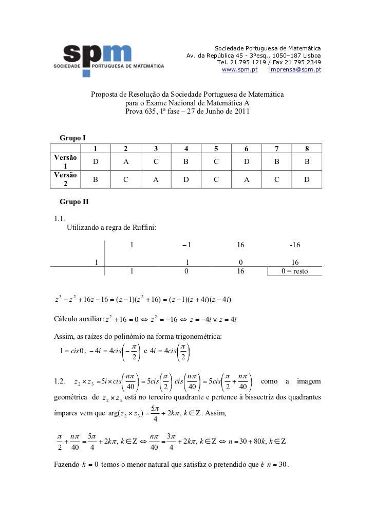 Sociedade Portuguesa de Matemática                                                   Av. da República 45 - 3ºesq., 1050–18...
