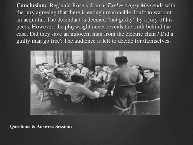 essential questions for 12 angry men Answers to 180 short answer test questions that evaluate students' knowledge of twelve angry men.