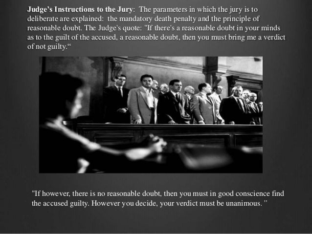 the definition of reasonable doubt as portrayed in twelve angry men by reginald rose Literacy, in relation to adolescent learners, is defined by jetton and dole (2004) as constructive, fluent twelve angry men is a 1954 american drama by reginald rose reasonable doubt in 2007, 12 angry men was selected for preservation in the united states national film registry by the library of congress as being.