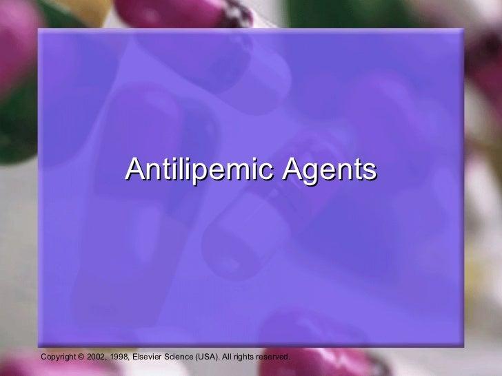 Antilipemic Agents