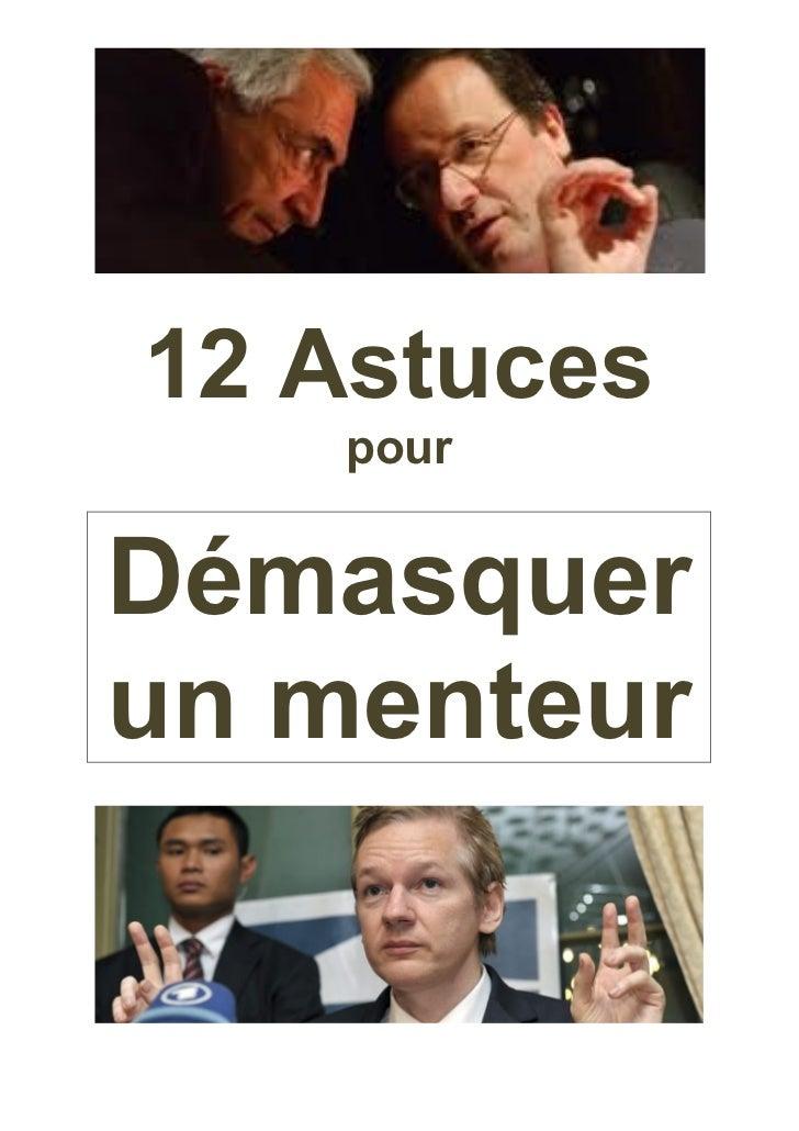 12 Astuces    pourDémasquerun menteur