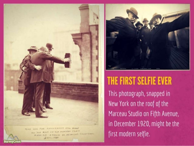 The First Selfie Ever: This photograph, snapped in New York on the roof of the Marceau Studio on Fifth Avenue, in December...
