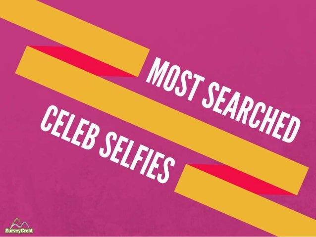 Most Searched Celebrity Selfies.