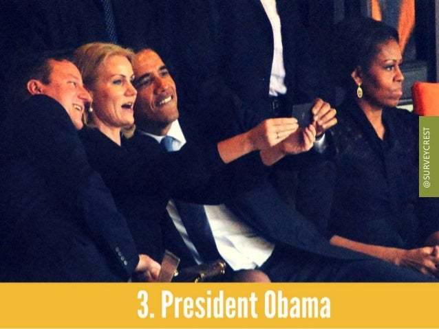 President Obama posed for a funeral selfie and Michelle Obama's stern look caught attention on the Web. @SURVEYCREST