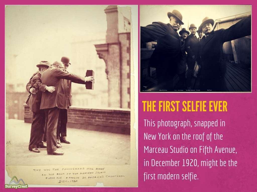 First selfie photo