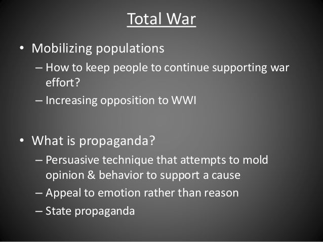 was wwi a total war for britian essay This collection of world war i essay questions has been written and compiled by alpha history authors these questions can also be used for short answer responses, research tasks, homework and revision activities if you would like to suggest a question for this page, please contact alpha history.