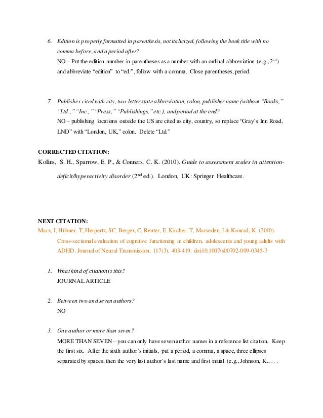 Apa formatting activity reference list citations 1 9 6 ccuart Gallery