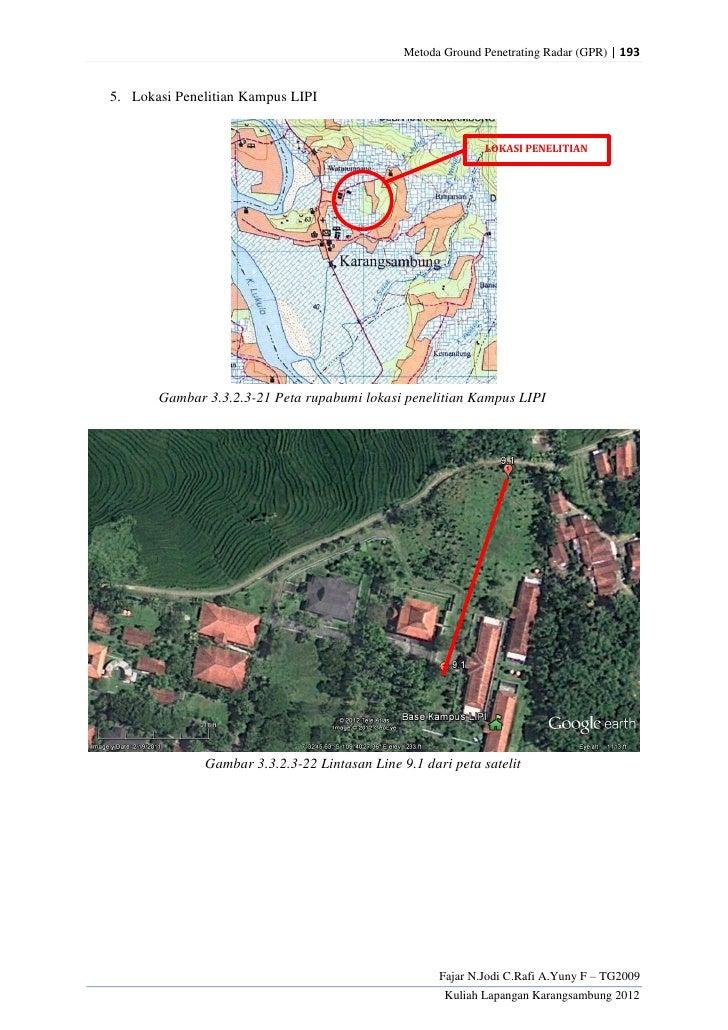 Metoda Ground Penetrating Radar (GPR) | 1935. Lokasi Penelitian Kampus LIPI                                               ...