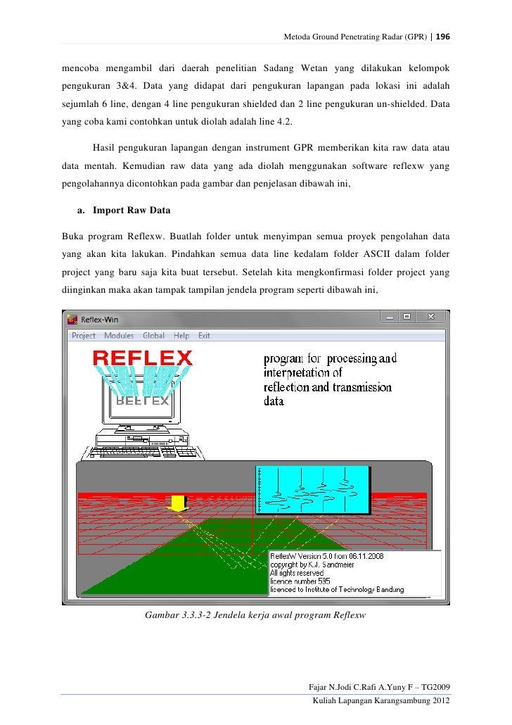 Metoda Ground Penetrating Radar (GPR) | 196mencoba mengambil dari daerah penelitian Sadang Wetan yang dilakukan kelompokpe...